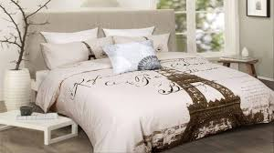 chic design eiffel tower quilt cover set bed sheets full you
