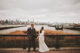 Chart House Nyc New York Skyline Wedding In Foggy Wehawken New Jersey