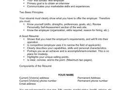 Resume Sample Resume Format Professional Resume Samples And