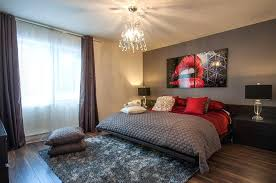 grey bedroom decor view in galry red brings chic glamour to the posh bedroom design home staging gray master bedroom colors