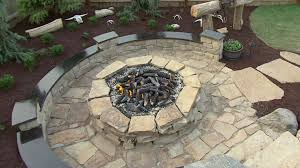 ... Good Collection Building A Stone Fire Pit Nice ...