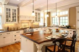 Kitchen Counter Table Design Rustic Country Kitchen Design White Tile Backsplash Rectangle
