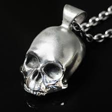 details about handmade silver mens biker skull pendant necklace inspired by keith richards