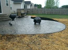patio backyard stamped concrete patio ideas design cement awesome large size of designs image rectangular