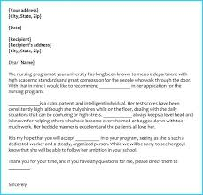 Letter Of Recommendation For Nursing School Letter Of Recommendation For Nursing School From Employer Cover