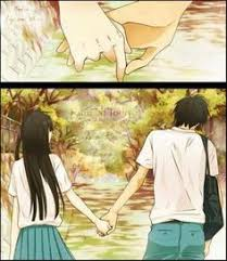 anime holding hands and walking. Plain Walking Anime Couple Holding Hands To Holding Hands And Walking A