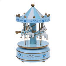 al carousel horse wooden carousel box toy