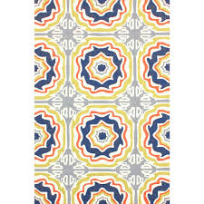 nuloom sevilla tiles indoor outdoor multi 5 ft x 8 ft a