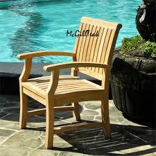 titan teak outdoor chair patio dining arm chair