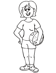 Basketball Coloring Pages For Girls Sports Sport Coloring Pages Of