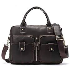 yudfxchf men 39 s business briefcase tote leather shoulder laptop daily work bag