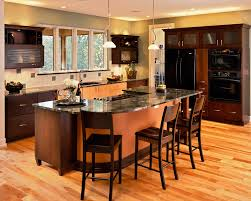 kitchen island with cooktop Kitchen Contemporary with bar stools barstools  black. Image by: Witt Construction