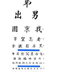 Eye Chart Poster Chinese Eye Chart Poster
