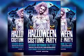 Costume Contest Flyer Template Halloween Costume Party Flyer Template