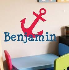 monogram w anchor vinyl wall decal