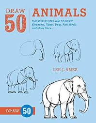 draw 50 s the step by step way to draw elephants tigers