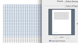Creating Knit Graph Paper On Mac Using Excel And Numbers