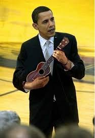 Image result for barack obama little guitar