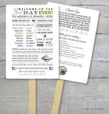 Diy Wedding Program Fan Kit Best Day Ever Order Of Service Fan