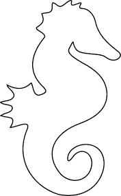 Semplice Figura Di Cavalluccio Marino Da Colorare Per Bambini