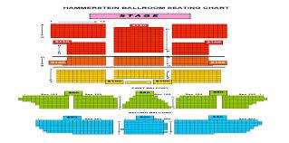 Roh Hammerstein Ballroom Seating Chart Hammerstein Ballroom Nyc Seating Chart 2019