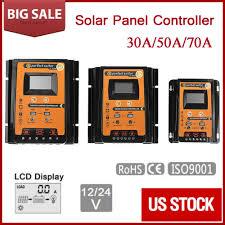 12/24V 30/50/70A <b>PWM MPPT Solar Charge Controller</b> Panel ...