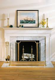 white fireplace mantel with fireplace accessories solid cast brass tools fireplace screen and cast
