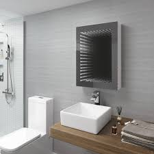 Bathroom Cabinet With Shaver Point 500 X 650 Mm Illuminated Led Infinity Bathroom Mirror Cabinet