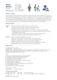Cv Template For Care Assistant Social Worker Caption Work Cv Template Resume Templates 4