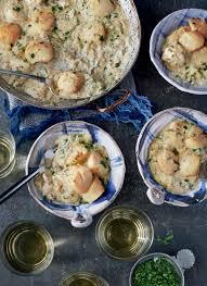 Baked Scallops Recipe in Mushroom Cream ...