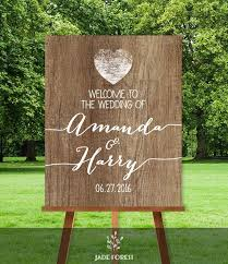 rustic wedding welcome sign diy welcome to our wedding rustic wood sign white calligraphy printable pdf personalized sign