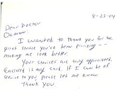Notes From Our Patients Dr Lawrence Osman