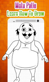 how to draw characters of motu patlu easy steps