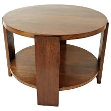 oak round coffee table french art two levels oak round coffee table or side table for