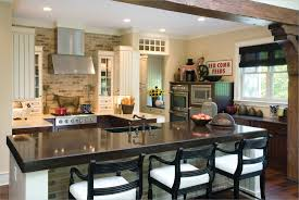aquarium awesome kitchen island and stainless steel sink with brick stone wall theme also black chair awesome kitchen bar stools