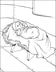 Baby Jesus Coloring Pages Printable Free Printable Baby In The
