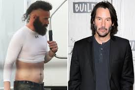 Keanu Reeves Looks Unrecognisable On The Set Of Bill And Ted