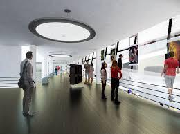 Public Art Gallery interior furniture modern
