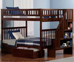 Retail Price $1,149.99 Woodland Full over Stair Bunk Bed AB56804 | Atlantic Furniture