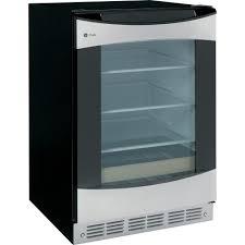 Undercounter Drink Refrigerator Ge Profile 12 Bottle Beverage Cooler In Stainless Steel Pcr06batss
