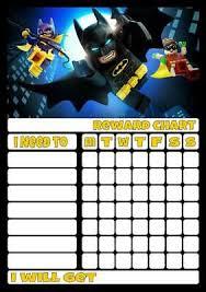 Lego Batman Reward Chart Lego Harry Potter Personalised Reward Chart With Free