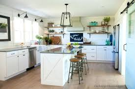 our farmhouse kitchen reveal the house open shelves sharing fixer upper inspired featuring white shaker