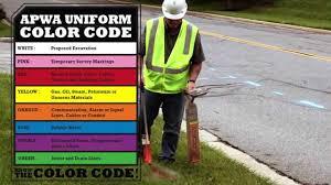 Apwa Uniform Color Code Chart Color Code Oregon Utility Notification Center