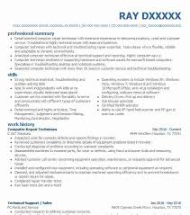 Resume For Computer Technician Computer Tech Resume Resume For