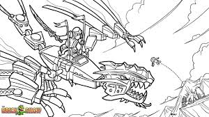 Small Picture LEGO Ninjago Golden Dragon Under Attack Coloring Page Printable