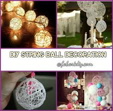 How To Make String Ball Decorations Stunning DIY Pretty String Ball Decoration For Christmas