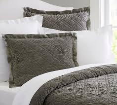 Velvet Bedding | Pottery Barn & Washed Velvet Silk Quilt & Sham - Flagstone Gray $299 – $369 Sale $179.99 –  $219.99 Adamdwight.com