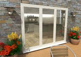 climadoor white aluminium bi folding patio doors