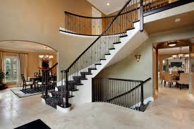 Incredible mixed media staircase wit wood and cast iron.