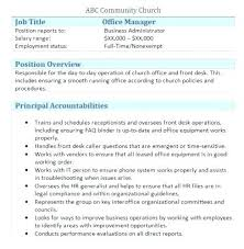 Real Estate Resumes Beauteous Office Manager Sample Job Description Resume Template Free Real